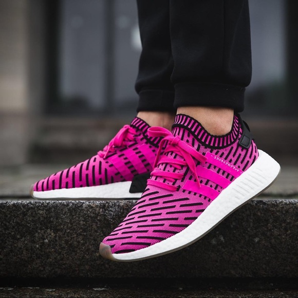Men's Adidas NMD_R2 Primeknit Sneakers